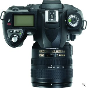 Nikon's D70 digital SLR. Courtesy of Nikon, with modifications by Michael R. Tomkins. Click for a bigger picture!
