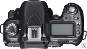 Nikon's D80 digital SLR. Courtesy of Nikon, with modifications by Michael R. Tomkins. Click for a bigger picture!