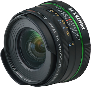 smc Pentax DA 15mm F4 ED AL Limited lens. Photo provided by Pentax Imaging Co. Click for a bigger picture!