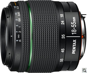 Pentax smc DA 18-55mm F3.5-5.6 AL WR lens. Photo provided by Pentax Imaging Co. Click for a bigger picture!