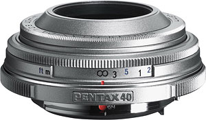 The smc PENTAX-DA 40mm F2.8 Limited Silver. Photo provided by Pentax Imaging Co. Click here for a bigger picture!