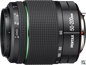 Pentax smc DA 50-200mm F4-5.6 ED WRlens. Photo provided by Pentax Imaging Co. Click for a bigger picture!