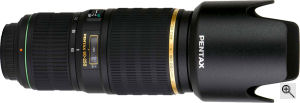 Pentax's smc PENTAX-DA* 60-250mm F4ED [IF] lens. Courtesy of Pentax, with modifications by Michael R. Tomkins. Click for a bigger picture!