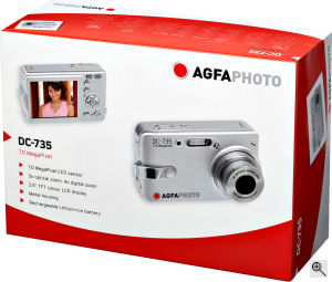 The AgfaPhoto DC-735 digital camera. Courtesy of  plawa-feinwerktechnik GmbH & Co. KG., with modifications by Michael R. Tomkins.  Click for a bigger picture!