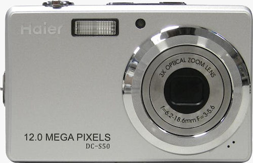 Haier's twelve megapixel, 3x optical zoom DC-S50 digital camera. Photo provided by Haier Group Corp. Click for a bigger picture!