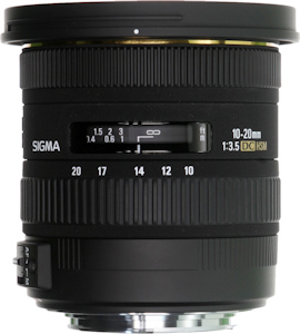 Sigma's 10-30mm F3.5 EX DC HSM lens. Photo provided by Sigma Corp. Click for a bigger picture!