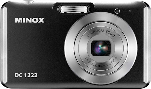 Front view of the Minox DC 1222 digital camera. Photo provided by Minox GmbH. Click for a bigger picture!