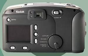 Kodak's DC3400 Zoom digital camera, rear view.  Courtesy of Kodak.