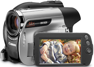 Canon's DC420 DVD camcorder. Photo provided by Canon U.S.A. Inc. Click for a bigger picture!