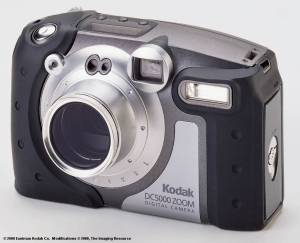 Kodak's new DC5000 Zoom digital camera, front view - click for a bigger picture!