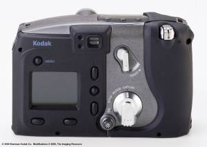 Kodak's new DC5000 Zoom digital camera, rear view - click for a bigger picture!