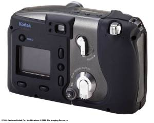 Kodak's new DC5000 Zoom digital camera, rear quarter view - click for a bigger picture!