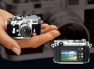 Minox's Digital Classic Camera Leica M3. Courtesy of Minox, with modifications by Michael R. Tomkins.