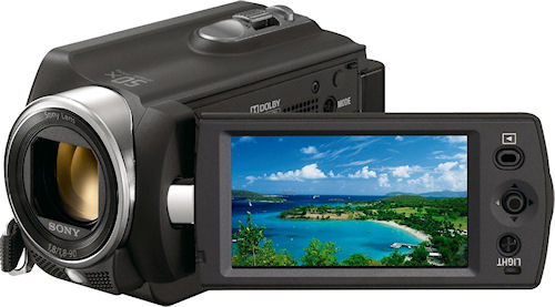 Sony's Handycam DCR-SR15E camcorder. Photo provided by Sony Europe Ltd. Click for a bigger picture!