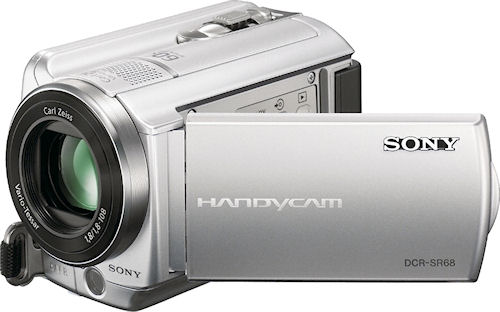 Sony's DCR-SR68 digital camcorder. Photo provided by Sony Electronics Inc. Click for a bigger picture!