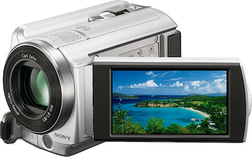 Sony's DCR-SR88 digital camcorder. Photo provided by Sony Electronics Inc. Click for a bigger picture!