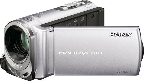 Sony's DCR-SX44 digital camcorder. Photo provided by Sony Electronics Inc. Click for a bigger picture!