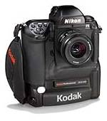 Kodak's DCS660 digital camera, front right quarter view. Courtesy of Eastman Kodak Co.