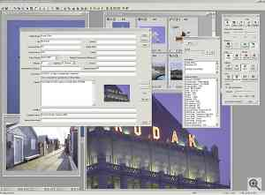 Kodak's DCS PhotoDesk software, viewing/modifying  metadata. Click for a bigger picture!