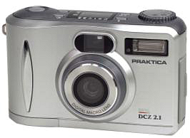 Praktica's DCZ 2.1 digital camera. Courtesy of Pentacon Dresden.