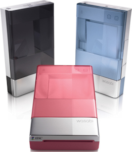 Dell's Wasabi inkless printer in black, blue and pink variants. Photo provided by Dell Inc. Click for a bigger picture!