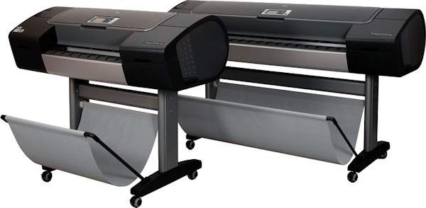 HP's DesignJet Z-series printers. Courtesy of HP, with modifications by Michael R. Tomkins.