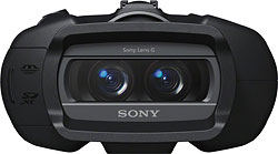 Front view of the Sony DEV-3 / DEV-5 binoculars. Photo provided by Sony Electronics Inc. Click for a bigger picture!
