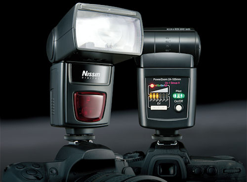 Nissin Di622 Mark II flash strobes in use. Photo provided by Nissin Japan Ltd. Click for a bigger picture!