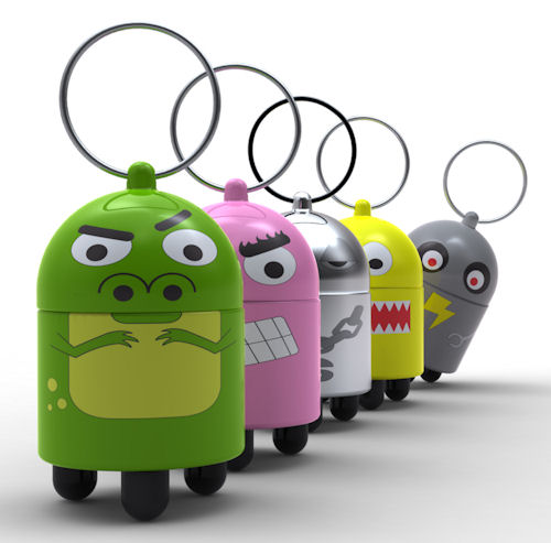 Another view of Quirky's DigiDudes keychain tripod lineup. Photo provided by Quirky. Click for a bigger picture!