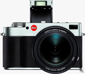 Leica's DIGILUX 3 digital camera. Courtesy of Leica, with modifications by Michael R. Tomkins. Click for a bigger picture!
