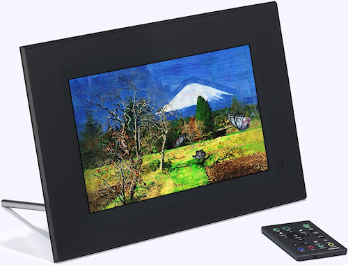 Casio's Digital Art Frame with remote control. Photo provided by Casio America Inc. Click for a bigger picture!