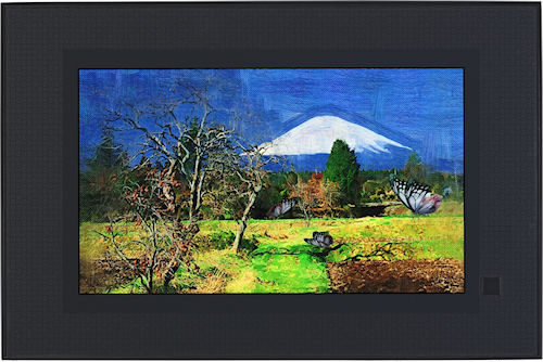 Casio's Digital Art Frame, front view. Photo provided by Casio America Inc. Click for a bigger picture!