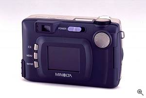 Minolta's Dim�ge 2330 digital camera, rear view. Courtesy of Minolta Corp. - click for a bigger picture!