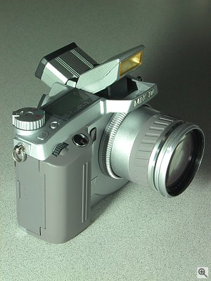 Minolta's Dimage 5 digital camera. Copyright (c) 2001, Michael R. Tomkins, all rights reserved. Click for a bigger picture!