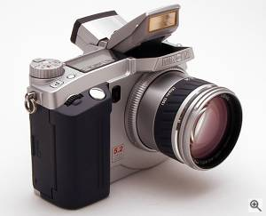Minolta's Dimage 7 digital camera. Copyright (c) 2001, Michael R. Tomkins, all rights reserved. Click for a bigger picture!