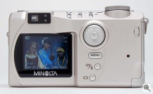 Minolta's DiMAGE S404 digital camera. Copyright © 2002, The Imaging Resource. Click for a bigger picture!