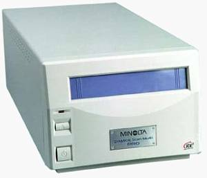 Minolta's DiMAGE Scan Multi PRO film scanner. Courtesy of Minolta.