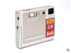 Minolta's DiMAGE X digital camera. Copyright © 2002, The Imaging Resource. Click for a bigger picture!
