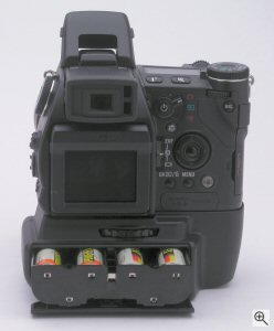 Minolta's DiMAGE A1 digital camera. Copyright (c) 2003, The Imaging Resource. All rights reserved. Click for a bigger picture!