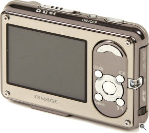 Konica Minolta's DiMAGE X1 digital camera. Courtesy of Konica Minolta, with modifications by Michael R. Tomkins. Click for a bigger picture!