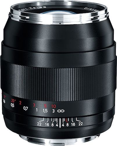 Side view of the Carl Zeiss Distagon T* 2/35 ZE lens. Photo provided by Carl Zeiss AG. Click for a bigger picture!