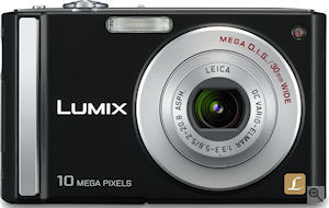 Panasonic's Lumix DMC-FS20 digital camera. Courtesy of Panasonic, with modifications by Michael R. Tomkins. Click for a bigger picture!