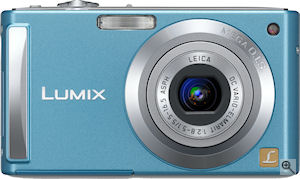 Panasonic's Lumix DMC-FS3 digital camera. Courtesy of Panasonic, with modifications by Michael R. Tomkins. Click for a bigger picture!
