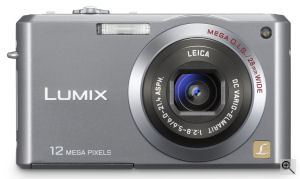 Panasonic's Lumix DMC-FX100 digital camera. Courtesy  of Panasonic, with modifications by Michael R. Tomkins. Click for a bigger picture!