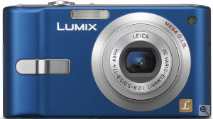 Panasonic's Lumix DMC-FX10 digital camera. Courtesy of Panasonic, with modifications by Michael R. Tomkins.
