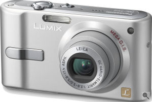 Panasonic's Lumix DMC-FX12 digital camera. Courtesy of Panasonic, with modifications by Michael R. Tomkins.