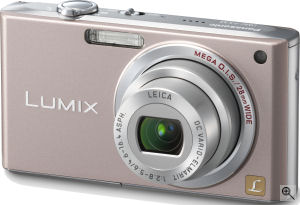 Panasonic's Lumix DMC-FX33 digital camera. Courtesy of Panasonic, with modifications by Michael R. Tomkins. Click for a bigger picture!