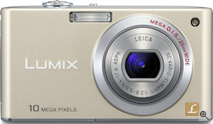Panasonic's Lumix DMC-FX35 digital camera. Courtesy of Panasonic, with modifications by Michael R. Tomkins. Click for a bigger picture!
