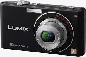 Panasonic's Lumix DMC-FX37 digital camera. Courtesy of Panasonic, with modifications by Michael R. Tomkins. Click for a bigger picture!