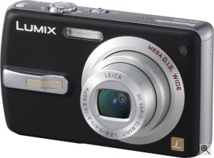 Panasonic's Lumix DMC-FX50 digital camera. Courtesy of Panasonic, with modifications by Michael R. Tomkins. Click for a bigger picture!